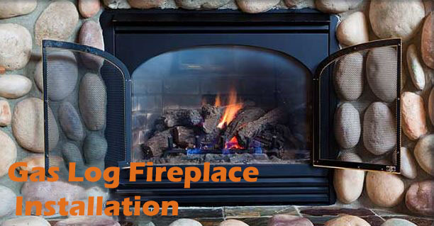 Raleigh Gas Log Fireplace Installation